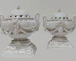 Coppia zuppierine Luigi XVI Venezia marchiati