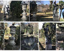 In Arrivo - Blocco sculture vasi in Pietra di Vicenza arredo per giardino all'italiana