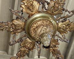 Outlet - Lampadario bronzo dorato - Liquidazione/Svendita