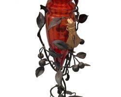 Umberto Bellotto - Vaso in vetro soffiato Murano Venezia