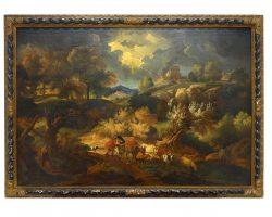 Pieter Mulier paesaggio dipinto olio su tela