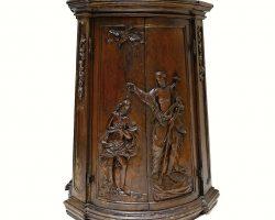 Copertura in legno per fonte battesimale Veneto XVIII secolo