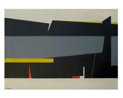 Mauro Reggiani - Comp- 1960 olio su tela