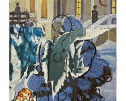Mimmo Rotella - Lirre 1989 - Sovrapittura