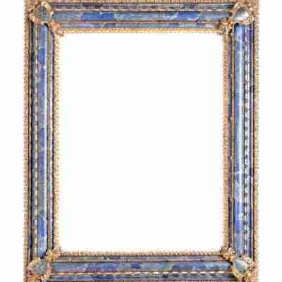 Specchiera 700 veneziana Domenico Rossetti lacca oro e vetro soffiatto