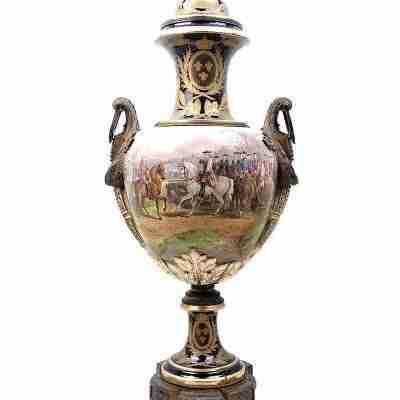 Grande vaso manifattura imperiale di Sevres - altezza 112 cm