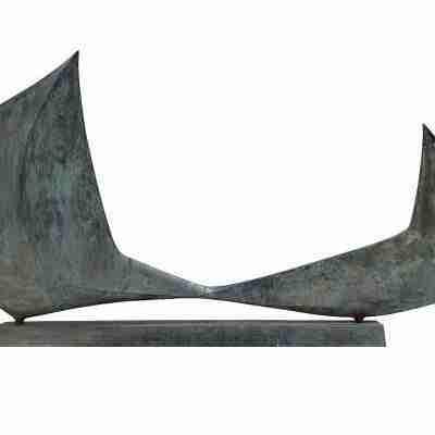 Salvatore Messina - Scultura in bronzo - le Vele già coll C. Gian Ferrari