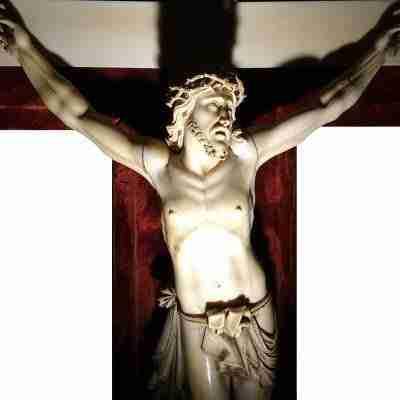 Grande scultura Cristo crocifisso in avorio