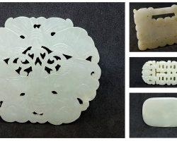 Lotto di 4 giade fibbia Cina XIX – XX secolo
