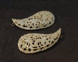 Giada traforata argento cinese Spille Fermagli ferma capelli Cina Cinese XIX – XX secolo