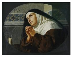 Картина маслом на холсте, подписанная и датированная Антонио Варни 1888, посвященная маркизе де Мари.