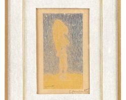 Рисунок живопись - подписано Джузеппе Коминетти