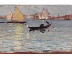 Картина маслом на панно - Luxardo Lazzaro - Венеция