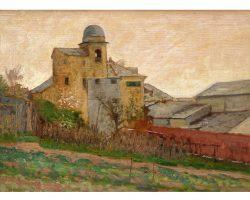 Картина маслом на панно - Люксоро Альфредо - Церковь Сан-Джероламо в Генуе