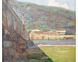 Картина маслом - Сашери Джузеппе - Окрестности Генуи