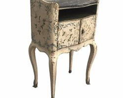 Louis XV Genoese bedside table lacquered and painted, 700th century Genoa lacquer