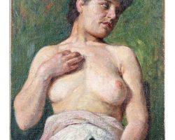 Картина маслом на холсте, подпись Айкарди - Модель 1909 г.