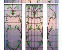 Vetrate Liberty vetro a cattedrale floreale Pietro Bevilacqua Sicilia