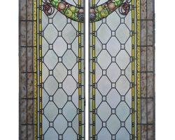 Coppia ante vetro cattedrale vetrata Liberty
