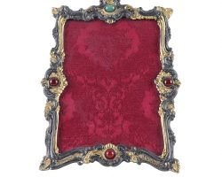 Cornice portafoto argento e pietre dure punzone Stefani Bologna