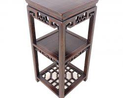 Trespolo portavaso cinese legno massello intagliato