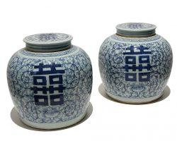 Coppia di vasi in ceramica cinese, Cina, epoca 800 perfetti