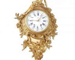 Orologio Cartel stile Luigi XV bronzo dorato - firmato La Vallèe, pendant coppia di orologi