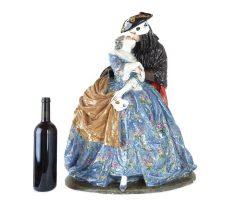 Luigi Fabris - grande scultura in ceramica Il Bacio delle Baute