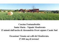 Immobile Rustico Cascina Casale terreno Monferrato, Piemonte collina vista