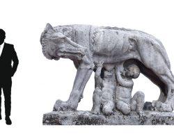 Statua da Giardino - Lupa prototipo per la stazione centrale di Milano arch. Stacchini/ De Grandi