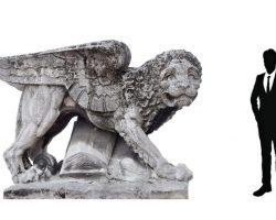 Statua da Giardino - Leone di San Marco prototipo per la stazione centrale di Milano arch. Stacchini/ De Grandi